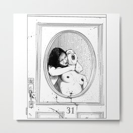 asc 0911 - L'invitée inattendue (Do not open your door tonight) Metal Print