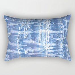 Steel blue blurred aquarelle Rectangular Pillow