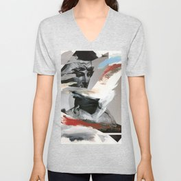 Untitled (Painted Composition 4) Unisex V-Neck