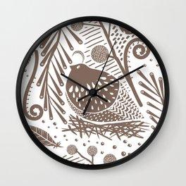 California Quail (Cocoa) Wall Clock