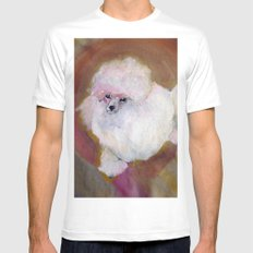 Toy Poodle MEDIUM White Mens Fitted Tee