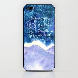 The Heavens Declare iPhone Skin