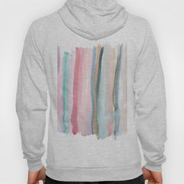 Watercolor stripe Hoody