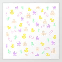 Precious Baby Girl Art Print