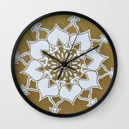 Golden Wall Clock