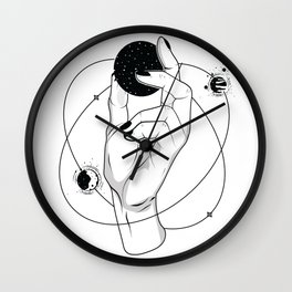 Hold Your Space Wall Clock