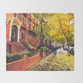 Autumn in Brooklyn Throw Blanket