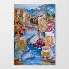 Kalispell Beer/Wine open Canvas Print
