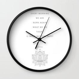 Buddha Inspirational Saying  Wall Clock