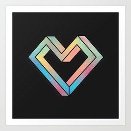 le coeur impossible (nº 4) Art Print