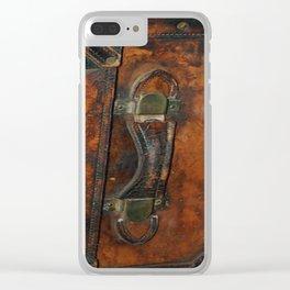 Steam-punk Vintage Steamer-trunk Handle Clear iPhone Case