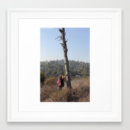 Trees and Flags Framed Art Print