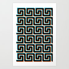 Pixel Wave no.3 Art Print