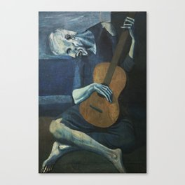 The Old Guitarist Canvas Print