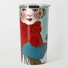 Little Red Riding Hood Painting Travel Mug