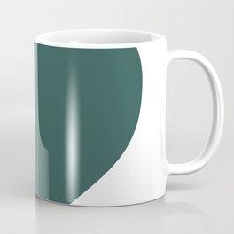 Heart (Dark Green & White) Coffee Mug