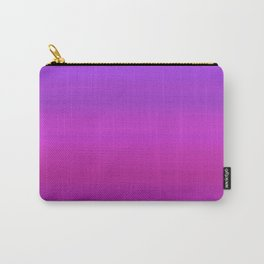 Purple & Blue Stripes | Bright gradient pattern Carry-All Pouch
