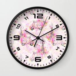 Fashion and Paris #3 Wall Clock