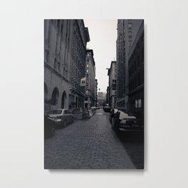 Cobble Stone Street In NYC Metal Print