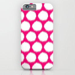 Pink Asian Moods Ikat Dots iPhone Case