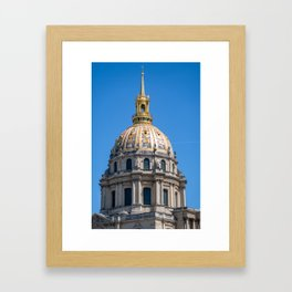 Hotel des Invalides dome in Paris Framed Art Print