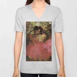 Dancers In Pink 1885 By Edgar Degas | Reproduction | Famous French Painter Unisex V-Neck