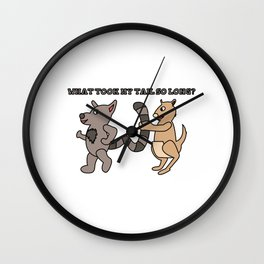 Unique & Funny Ringtail Cat Tshirt Design Long Tail Wall Clock