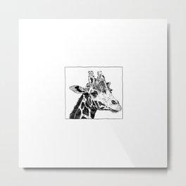 The Giraffe Metal Print