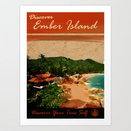 Come to Ember Island Travel Poster Art Print