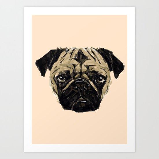 Geometric Pug Art Print