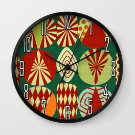 Christmas tree Minimalist green Wall Clock