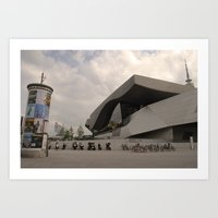 bmw Art Prints featuring BMW Headquaters by Darkhorse