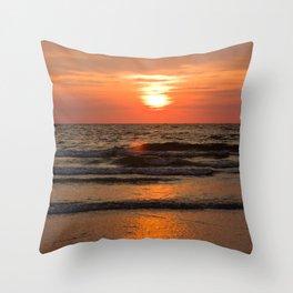 St. Pete Sunset 2 Throw Pillow