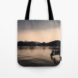 PERSPECTIVE // Sunset over West Lake, Hangzhou Tote Bag