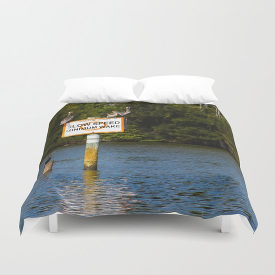 Manatee Zone Duvet Cover