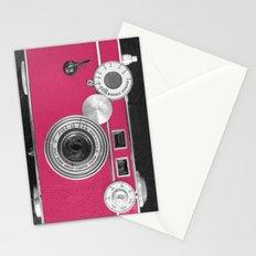 Pink Fashion Camera Stationery Cards