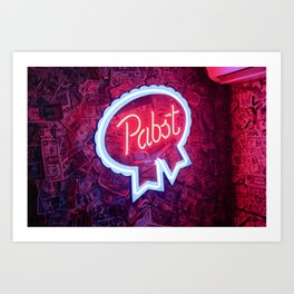 Pabst Money Sign Art Print