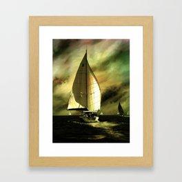 sailing race Framed Art Print