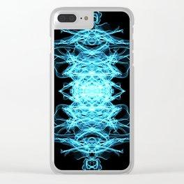 Lighting mandala Clear iPhone Case