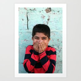 Young Kurdish boy in Van, Tirkey Art Print
