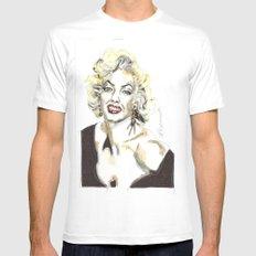 Marilyn Monroe White Mens Fitted Tee MEDIUM