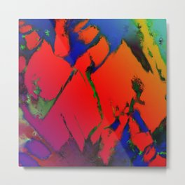Colliding panels red Metal Print