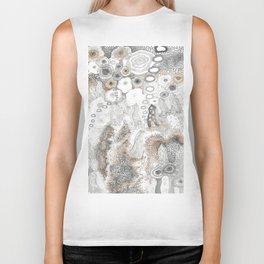 """Gray"" illustration Biker Tank"