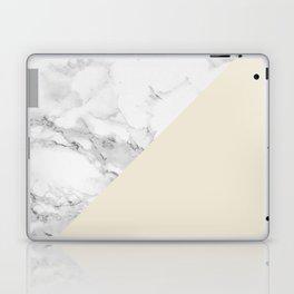 Marble + Pastel Cream Laptop & iPad Skin