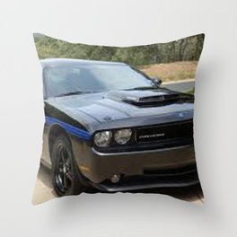 2010 MOPAR '10 Black Challenger Limited Edition Throw Pillow
