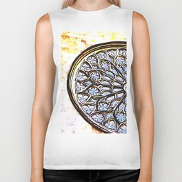 Gothic Rose Drawing Cathedral Barcelona Biker Tank