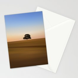 Focus on one thing at a time isolated oak tree Stationery Cards