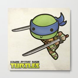 Leonardo - Kawaii Mutant Ninja Turtles Metal Print