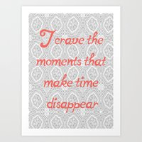 Disappearing Time Art Print