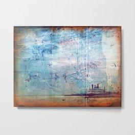 Grunge Ship Metal Print